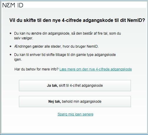 nemid skift password