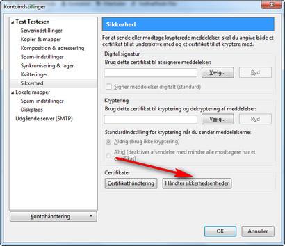 Opsætning af sikker e-mail i XP mozilla thunderbird - NemID
