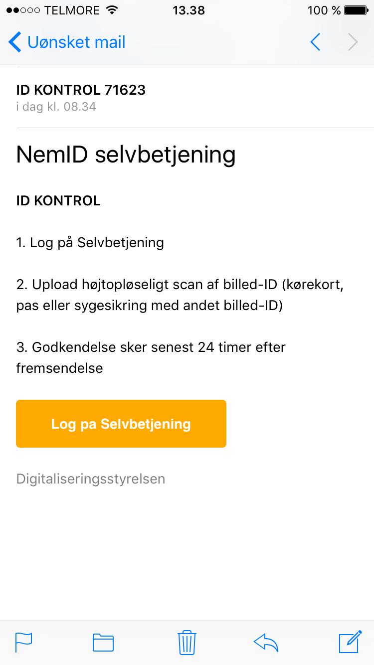 Eksempler på phishing - NemID